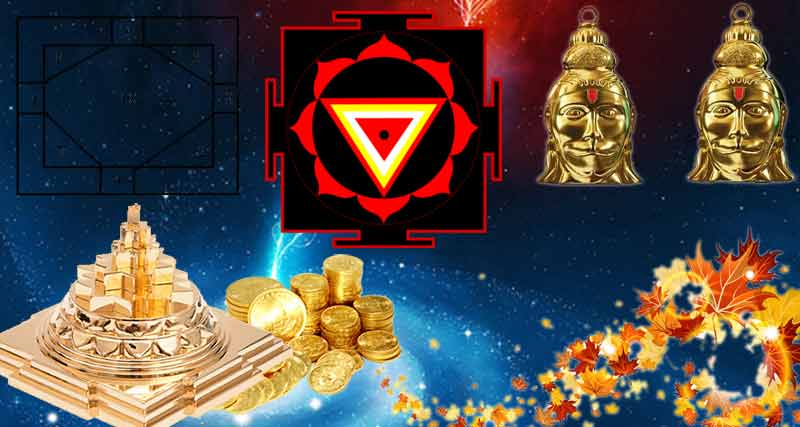 Keeping the Yantras sold in market at home increase prosperity.