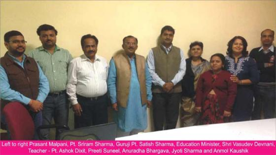 Education minister visits International Vastu Academy on 22-02-2016